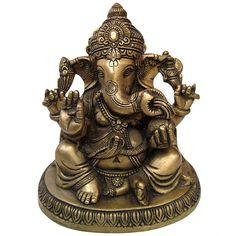 brass ganesh statue, lord ganesh statue