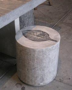 Cast #concrete #stool -- at home inside or out for @Kitt Kat, who has a beautiful board with concrete furniture