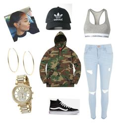 Casual tomboy by kaosica on Polyvore featuring polyvore, fashion, style, River Island, Calvin Klein, Vans, Michael Kors, adidas and clothing