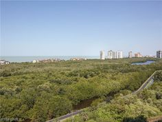 View of the Strand and high rise buildings of Bay Colony on the Gulf of Mexico, as seen from the Coronado high rise in Pelican Bay | Naples, Florida