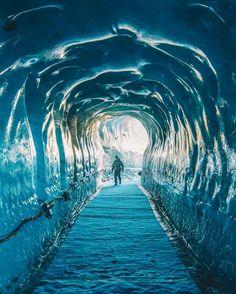 Grotte de glace - glacier du Mont Blanc, Chamonix