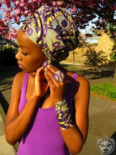 Printed head wraps african wax