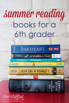 Summer reading books appropriate for the summer before 6th grade. #overstuffedlife