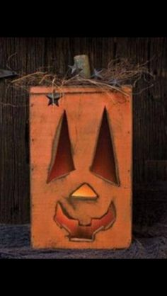 Cute pumpkin made from wood