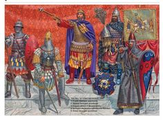 Varangian Guard at the time of the Fall of Constantinople, Third Crusade - Osprey Publishing Armadura Medieval, Military Art, Military History, Byzantine Army, Varangian Guard, Fall Of Constantinople, Empire Romain, Medieval Armor, Dark Ages