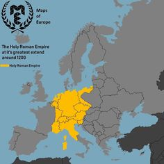 The Holy Roman Empire at it's greatest extent   What's your opinion on this Empire? - • Sourc
