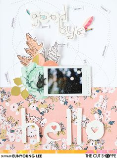 Today I'm going to share a layout with a cute title. I used a message cutfile from The Hello Fall cut file set for a ti...