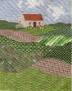 Image result for needlepoint aqueduct stitch