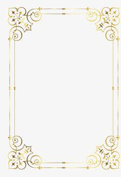 Gold frame, Golden, Frame, Pattern PNG Image