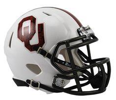 """Oklahoma Sooners Speed Mini Helmet - Alternate """"Bring The Wood"""""""