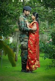 Military Couples, Military Love, Army Love, Army Couple Pictures, Military Pictures, Military Couple Photography, Indian Army Wallpapers, Army Pics, Army Wedding