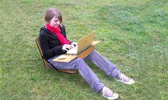 Openaire - Potable Laptop Case/Workstation  by Nick Trincia, via Behance. Folds up into a little case.