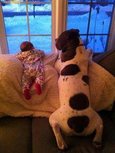 Baby and Nanny. . .