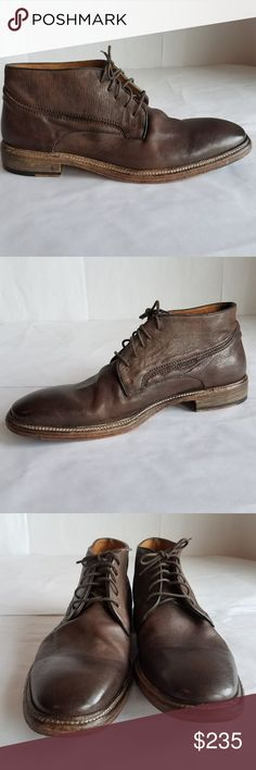 John Varvatos Fleetwood Norwegian Chukka Boot 12 John Varvatos Fleetwood Norwegian Handmade in Italy Brown Leather Chukka Men Shoes Boots Lace Ups sz 12   lace-up size John Varvatos Shoes Chukka Boots