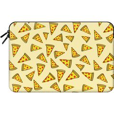 Macbook Sleeve - Pizza Party ($60) ❤ liked on Polyvore featuring accessories, tech accessories and macbook sleeve