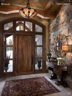 Fabulous entry to this rustic home