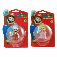 Super Mario - Mario And Peach Mini Figure Bundle - Series 3 by Mario. $9.63. Peach is wearing her pink dress and her crown and jewels. 2 pack mini figure bundle of Super Mario and Peach, a perfect addition to your growing collection. Mario wearing his traditional red overalls with his white shirt, cap and gloves.. Not suitable for Children under 3 years, contains small parts liable to be swallowed. Some poses require additional support. From the Manufacturer               ...