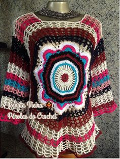 * Pérolas do Crochet: Blusa Mandala - Apostila Katia Missau
