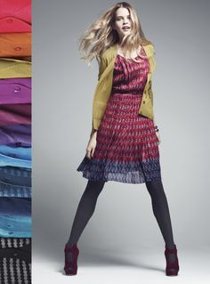 Halogen cardigans in great colors (also LOVE the gray leggings with shoes)