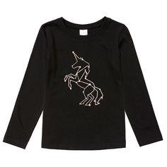 Girls' essentials Long Sleeve Print T-Shirt - Unicorn | Target Australia