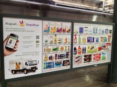 Retailers such as Walmart and Peapod continue to embrace QR codes to support virtual stores that highlight how easy it is for on-the-go consumers to purchase everyday items via their smartphones. Train Platform, Social Media Digital Marketing, Food Lion, Smartphone, Pea Pods, Retail Experience, Mobile Shop, Everyday Items, Grocery Store