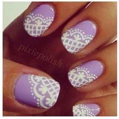 #pastelpurple #lacenails