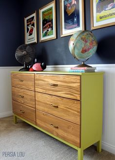 DIY dresser from simple IKEA chest of drawers.