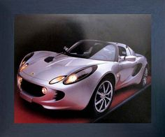 If you want to transform look of your living space, bedroom or living room add this Lotus Elise Ron Kimball cool car print framed art poster. After seeing this framed poster your guests will surely compliment your decor style. Its wooden espresso frame accentuates the poster mild tone. The frame is made from solid wood measuring 20x24 inches with a smooth gesso finish. This framed poster includes a saw tooth hanger on the back for easy display.