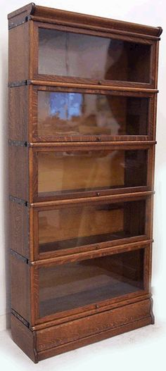 Globe and Wernicke antique barrister bookcases. Not sure...living room/study or loft area.