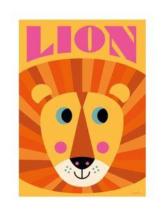 Lion Face Poster (50x70cm)