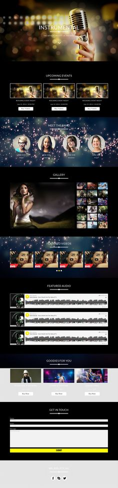 Instrumental is a #Muse #Template for band and #music #websites. It is powered by Gumroad #eCommerce to allow users book tickets online.