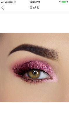 Pretty rich diamond light eyeshadow palette -makeup -inspiration -pink shadow -sparkly- eyeshadow -palette -shop now This is an affiliate link which means I may make a commission if you make a purchase through this link. Pink Eye Makeup, Makeup Eye Looks, Eye Makeup Steps, Eye Makeup Art, Colorful Eye Makeup, Makeup Inspo, Eyeshadow Makeup, Makeup Inspiration, Beautiful Eye Makeup