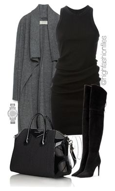 """Untitled #2225"" by highfashionfiles ❤ liked on Polyvore featuring Zara, DRKSHDW, Givenchy, Miu Miu, Kuboraum, Michael Kors, women's clothing, women's fashion, women and female"