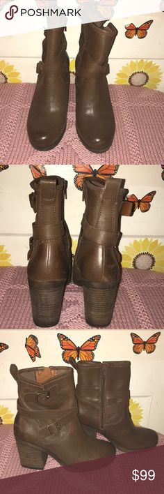 "Lucky Brand booties 👢 Brown booties  Inside zipper  Approximately 3"" heel  New unworn NWT Lucky Brand Shoes Ankle Boots & Booties"