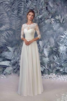 Vestido de novia  vestido de encaje impresionante novia Polly