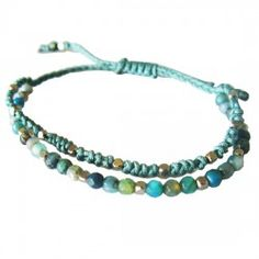 polyphony bracelet blue Thai Village #fairtrade #Thailand #handmade #Thaivillageinc