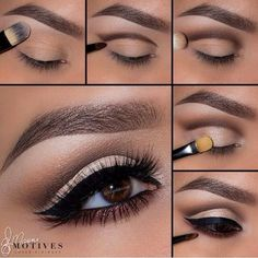 Profi Make-Up Tutorial! - Makeup Tips , Profi Make-Up Tutorial! Profi Make-Up Tutorial! Eye Makeup Steps, Smokey Eye Makeup, Smoky Eye, Maquillage Yeux Cut Crease, Make Up Designs, Makeup Tutorial For Beginners, Mac Makeup, Makeup Brushes, Makeup Eyeshadow
