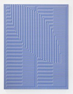 Tauba Auerbach, Shadow Weave – Comb/Void I, 2013, Woven canvas on wooder stretcher, 152,4 x 114,3 cm © Tauba Auerbach