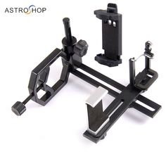 Metal Telescope Camera Adapter Smartphone Adapter Multifunction with 3 Phone Brackets for Spotting Scope Binocular Monocular #Affiliate