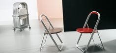 Ori by Bonaldo Stackable Chairs, Metallic Paint, Folding Chair, Cool Designs, Contemporary, The Originals, Painted Metal, Furniture, Abs