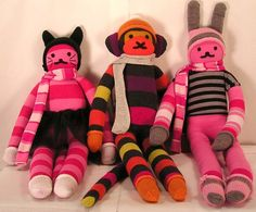 Sock Animals  J'adore les Animaux Collection Custom by 3elizabeths, $35.00