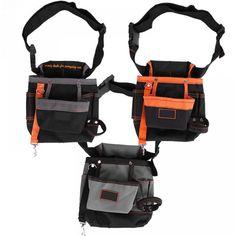 8 Pockets Belt Tool Bags Adjustable Portable Pouch Electrician Bag Black Grey Edge /Black Orange Edge /Grey Black Edge Optional  Price: 21.99 & FREE Shipping  #hashtag1
