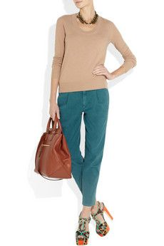 Giles & Brother necklace, Chloé top, 7 for all mankind pants, Jil Sander bag.
