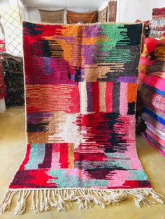 Boujaad rug 5x8, 5x8 rug, Pink moroccan rug, Morrocan rug, Hand made rug, Rainbow rug, Checkered rug, Abstract rug, Shag rug, Zanafi rug Morrocan Rug, Moroccan, Pink Shag Rug, Carpet Cleaning Company, Modern Art, Contemporary, Berber Rug, How To Clean Carpet, Small Rugs