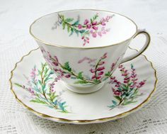 Royal Doulton Bell Heather Bone China Tea Cup and by TheAcreage
