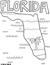 50 States Coloring Pages - does your sponsored child know what state you live in?