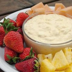 PINA COLADA FRUIT DIP Ingredients: 1 small pkg coconut cream instant pudding mix cup Cool Whip 1 cup milk 1 cup crushed pineapple, undrained In a Dessert Dips, Köstliche Desserts, Delicious Desserts, Yummy Food, Pina Colada Fruit Dip Recipe, Fruit Recipes, Dip Recipes, Easy Recipes, Fruit Dips