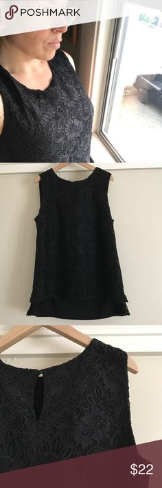 CK black lace tunic, S Comfort and class in one shirt? It can be done! 😋 Black lace with a lining, cute button closure in the back, and long tunic length, you can do a lot with this versatile shirt! It's a small, and has no stretch, but may fit up to a medium. Only worn a couple times and no rips, tears, pulls, or stains. Like new and ready for a new home! Calvin Klein Tops Tunics