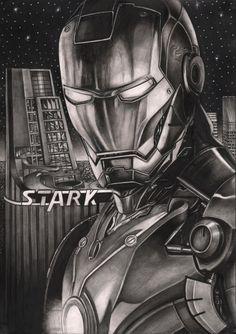 'IRON MAN' graphite drawing by Pen-Tacular-Artist.deviantart.com on @deviantART