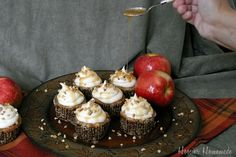 Apple Cupcakes with Cream Cheese Caramel Frosting